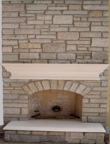 Brick limestone fireplace mantels ideas fireplaces pinterest - Brick fireplace surrounds ideas ...