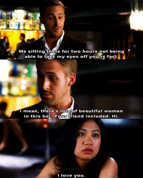 Funny Quotes On Crazy Love : Crazy Stupid Love--hahah I would definitely have the same reaction!