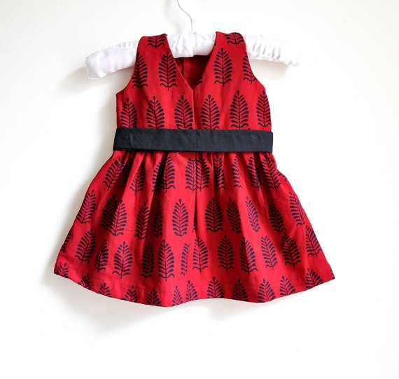 Baby Dress - Baby Girl Dress - Size 6 - 9 months - Red ...
