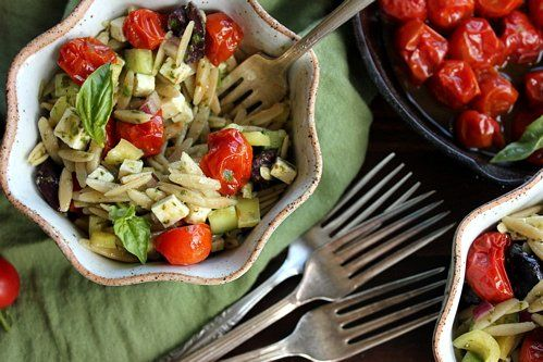 The Bojon Gourmet: Orzo Salad with Roasted Cherry Tomatoes, Red Bell ...