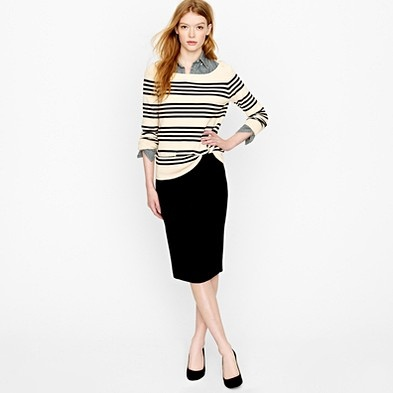 sweater with pencil skirt style