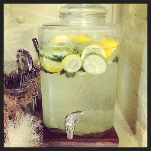 my new favorite summer drink, Basil & Cucumber Lemonade!
