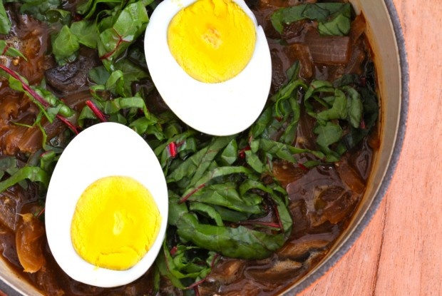 Miso Ginger Soup with Red Chard | Miso soup is not only warm, hearty ...