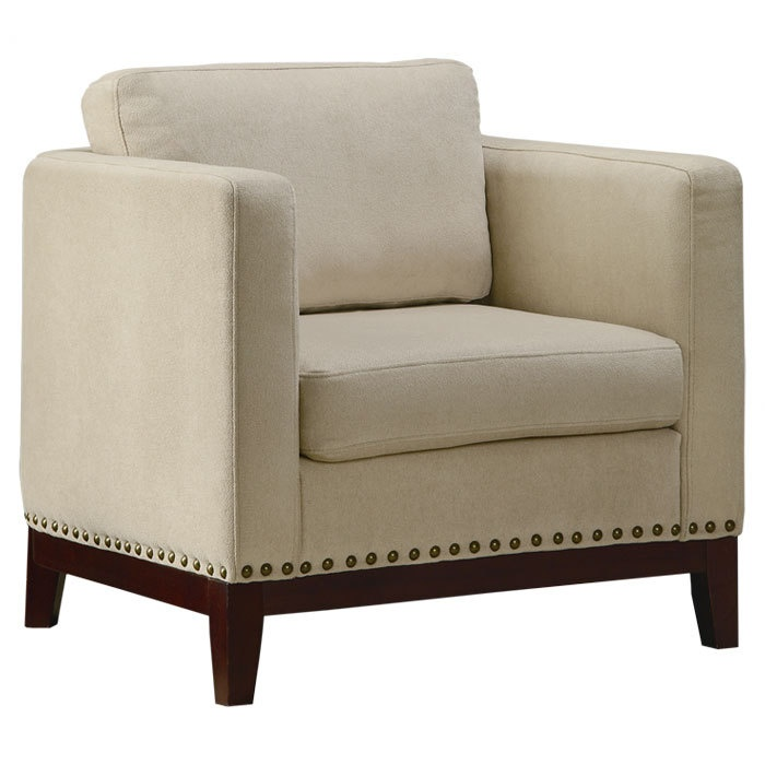 Great Accent Chair with nailhead trim