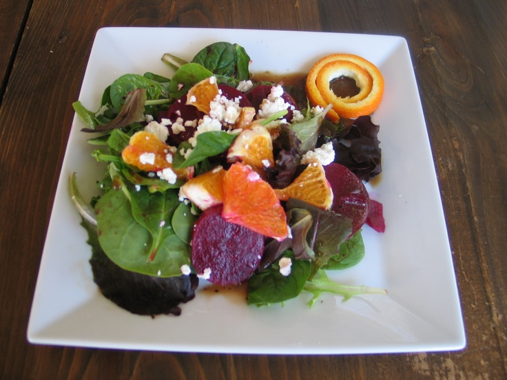 baby greens with goat cheese beets and candied pecans beets baby ...