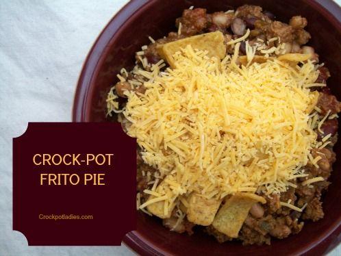 Crock-Pot Frito Pie -CrockPotLadies.com