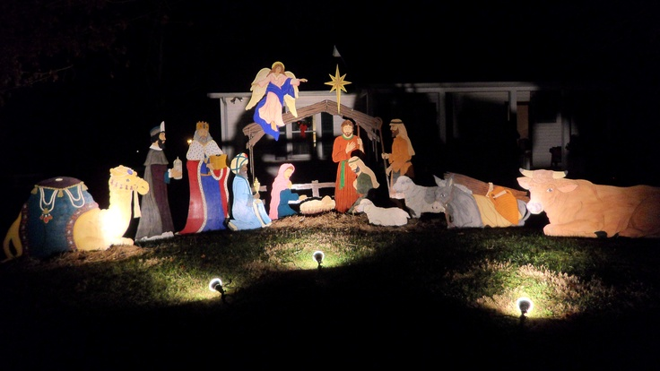 Outdoor Nativity Set Plans House Design And Decorating Ideas