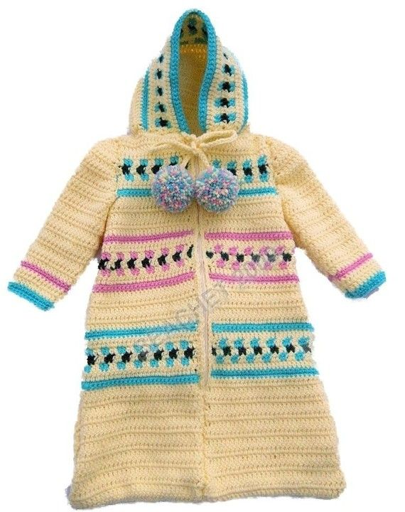 Crochet Baby Bunting Bag Patterns : Baby Bunting Zippered Hooded Cozy Sleeping Bag Crochet ...