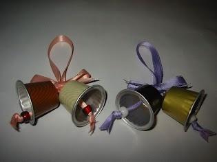 Campanes Nadal amb càpsules nespresso