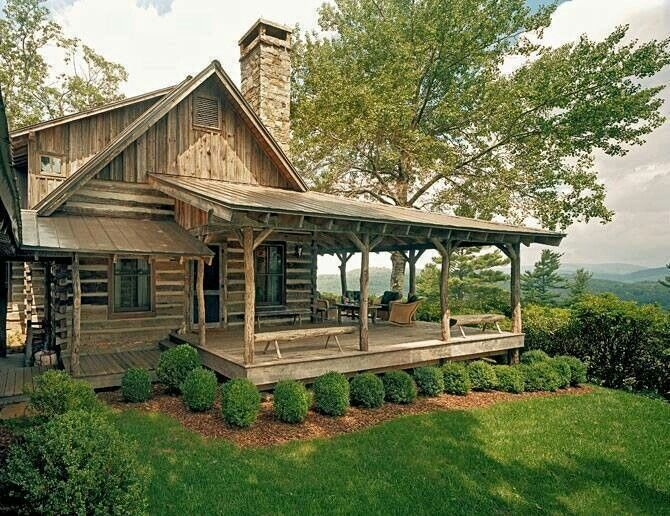 Log Cabin Dream Home Houses Pinterest
