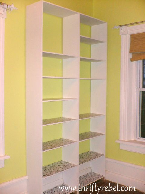 DIY Built in Bookcase Plans 480 x 640