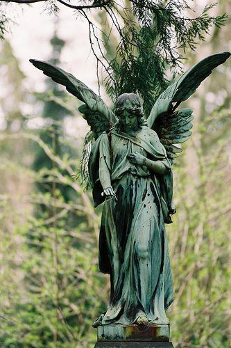 Garden angel statue statuaries pinterest - Angel statue for garden ...