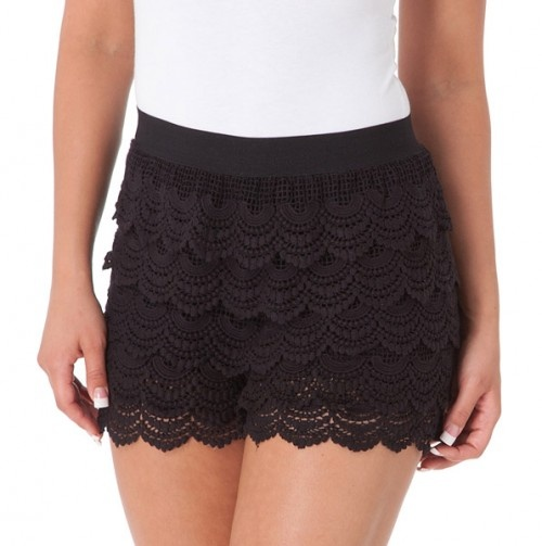 Black crochet lace shorts. I have some spare lace I can use to make ...