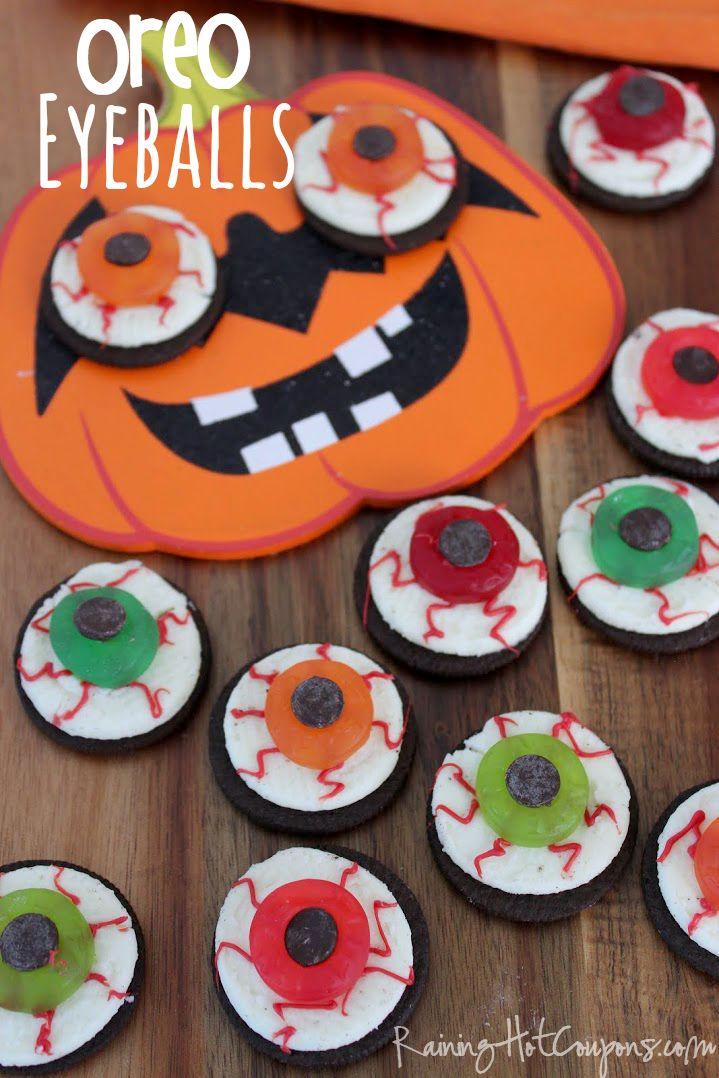Oreo Eyeballs  Halloween Recipe Oreo Halloween Desserts