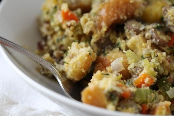 sourdough cornbread and sausage stuffing {Picky Palate}