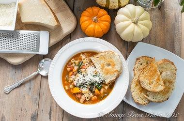 Winter Minestrone and Garlic Bruschetta — Punchfork