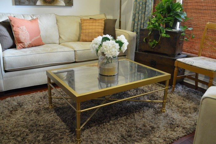 Gold gilded black chandelier coffee table chiar vintage modern - Glam Gold Metal Amp Mirrored Glass Coffee Table Closed Sold It