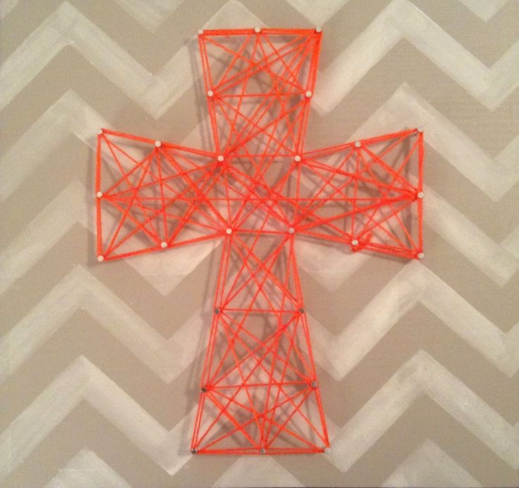 diy string art cross on chevron canvas pinterest. Black Bedroom Furniture Sets. Home Design Ideas