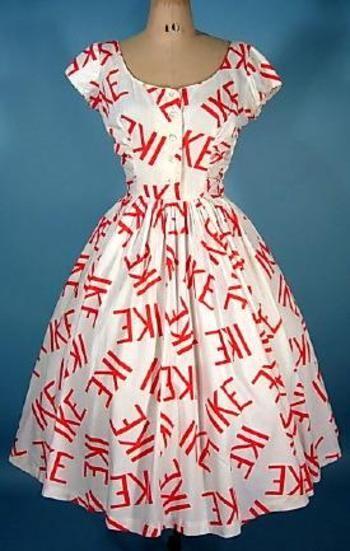 Vintage political advertising: Ike dress, 1950s