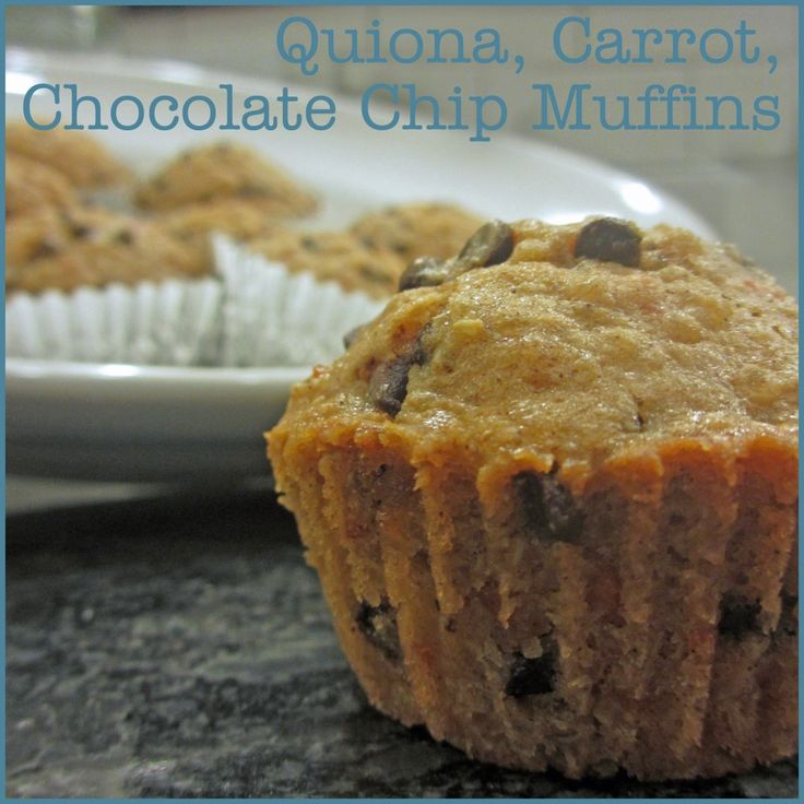 Quinoa, Carrot, Chocolate Chip Muffins | Recipe