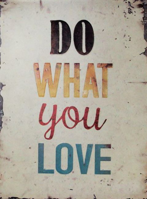 Do What You Love Wall Decor