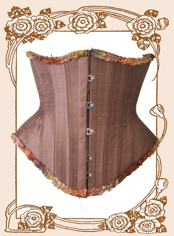 Blooddrop Luna Underbust Corset in Copper Rose Silk by blooddrop - via http://bit.ly/epinner