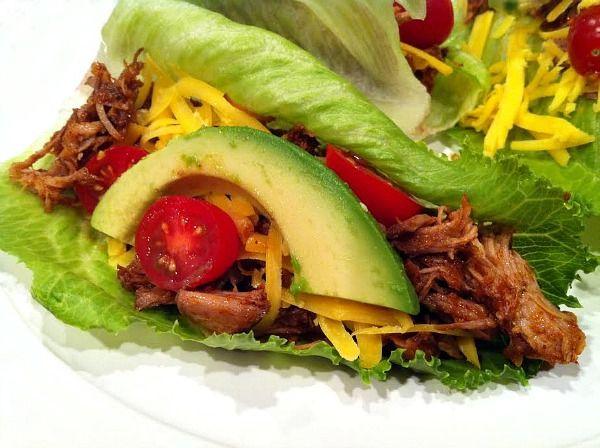 Pulled Pork Lettuce Wraps | Recipe