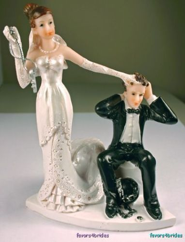 Humorous Ball And Chain Tied On The Grooms Ankle Wedding