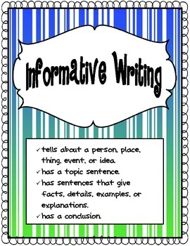 what is informative writing