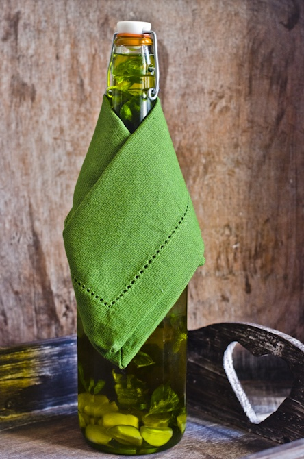 Olive Oil Flavored with Basil and Garlic | My cooking | Pinterest