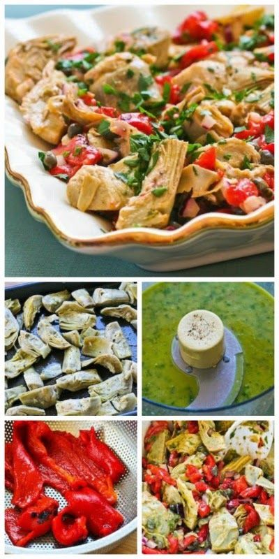 Warm or Cold Salad Recipe with Artichoke Hearts, Roasted Red Pepper ...