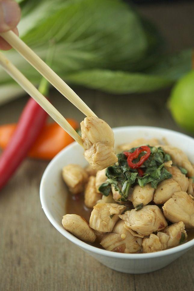 Chicken Bok Choy and Basil Stir-Fry | Food Coma | Pinterest