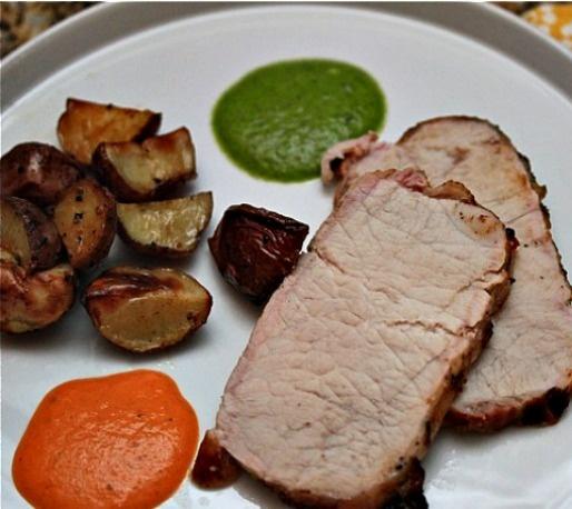 loin barbecued pork loin charmoula roasted pork loin elegant pork loin ...