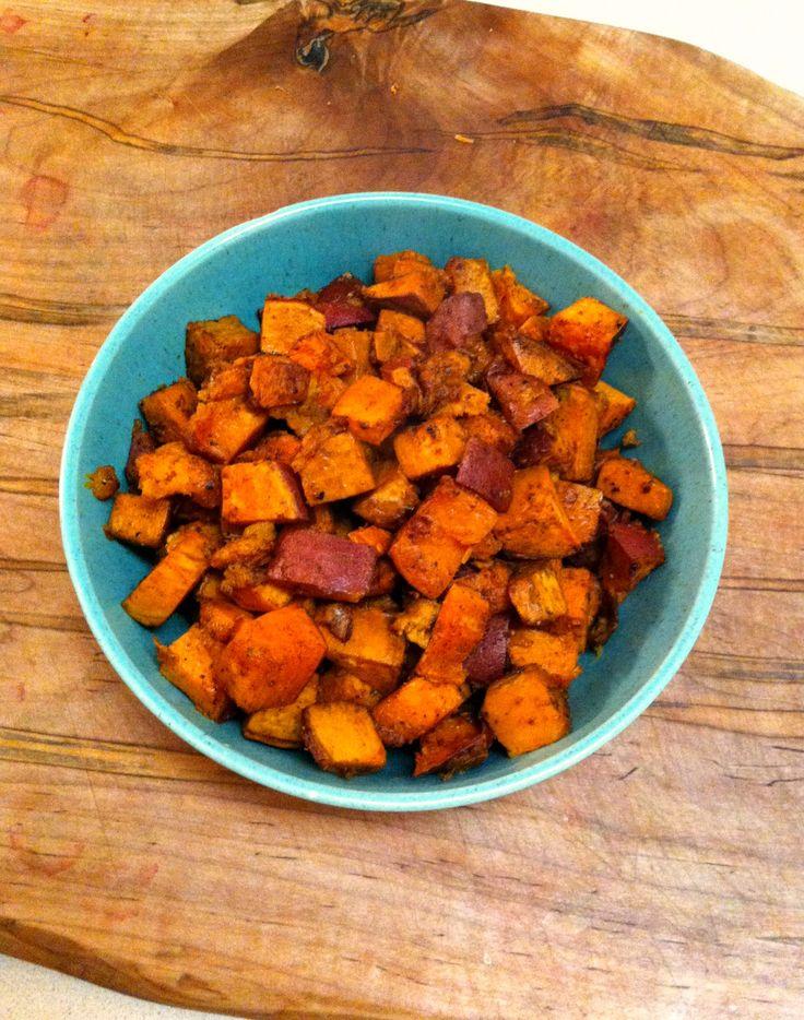 Spice Roasted Sweet Potatoes | delicious orange food | Pinterest
