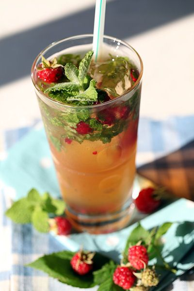 Raspberry mint tea! | Sweet Magic | Pinterest