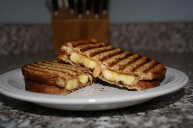... Peanut Butter, Nutella & Banana Sandwich (Panini) Kids LOVED it