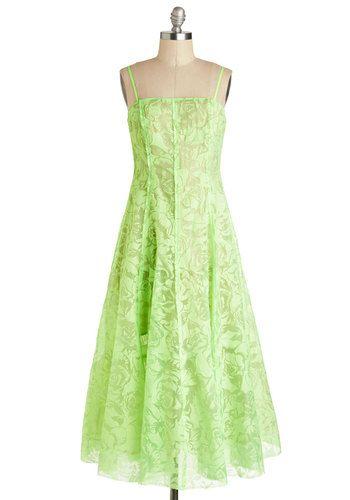 Modcloth lace green midi