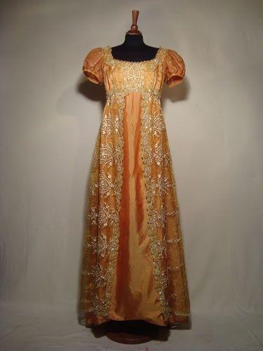 Empire Style Dress 1810 Regency Regency Period Women 39 S Clothing