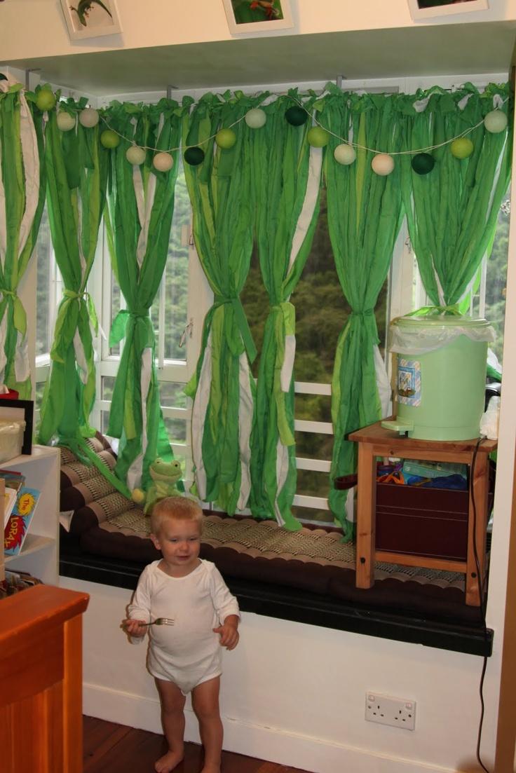 Classroom Curtain Ideas ~ Cute easy kids curtains