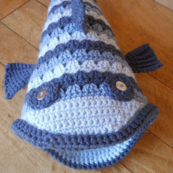 Crochet Blue Gill Fish Hat