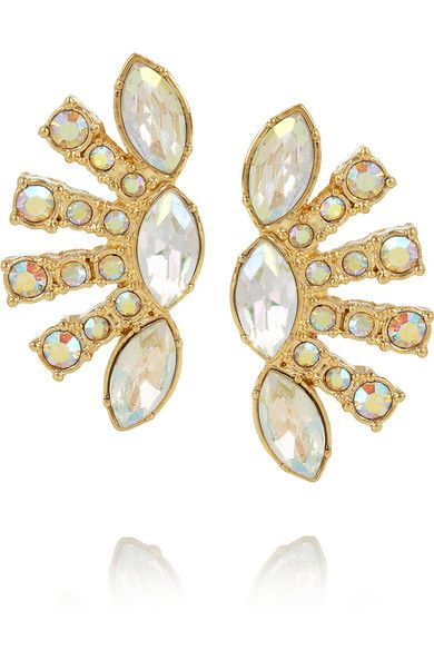 Shop now: Minuet gold-plated crystal earrings