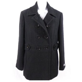 Calvin Klein Women's Wool Blend Pea Coat Jacket 8 $74.99