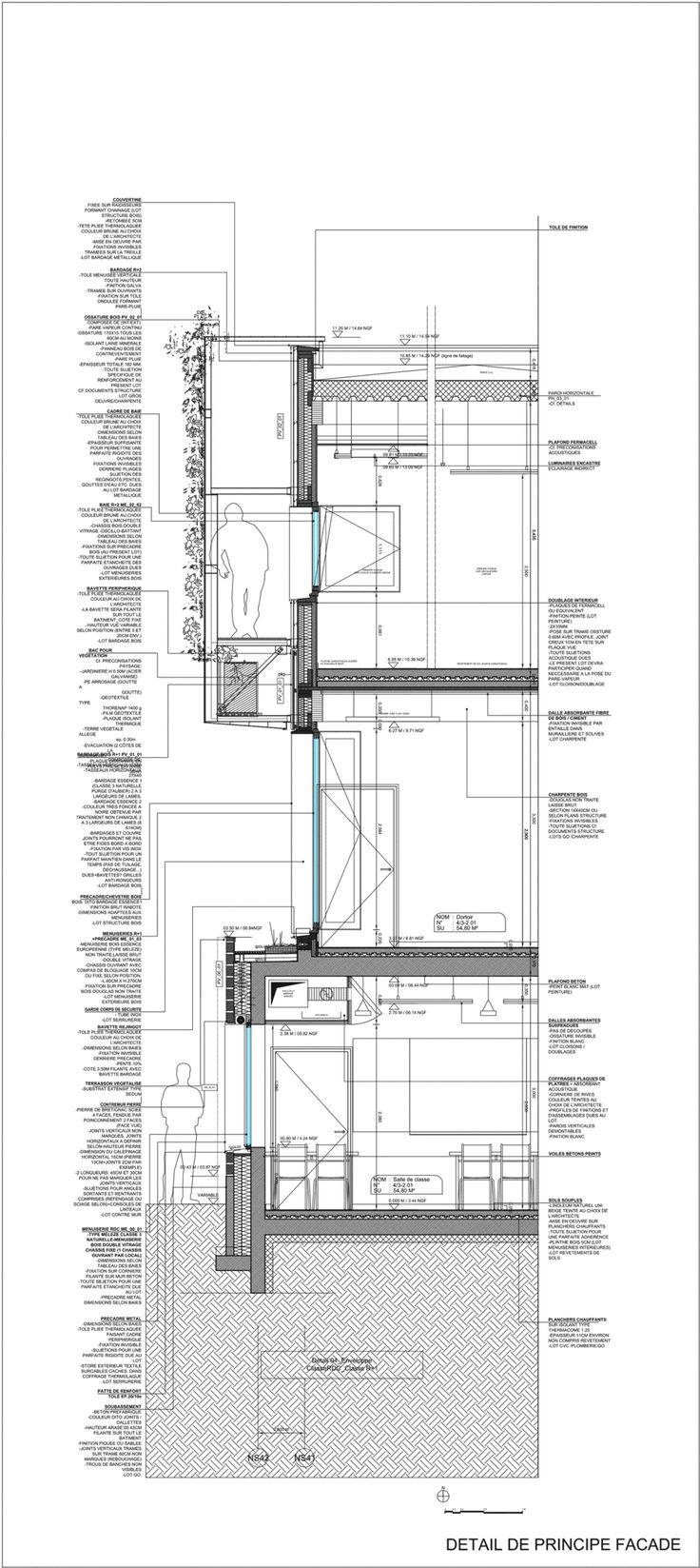 Wall Section Architecture Draws Pinterest