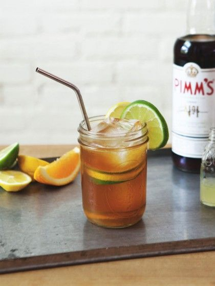 ... Pimm's Cup Cocktail - with three kinds of citrus, this is the perfect