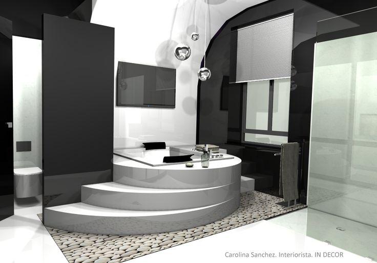 Baños Con Jacuzzi De Lujo:Proyecto de baño con jacuzzi