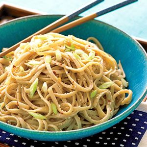 peanut-sesame noodles: YUMMY.....I added chicken for more of a meal ...