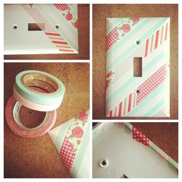 washi tape light switch cover easy decorating pinterest