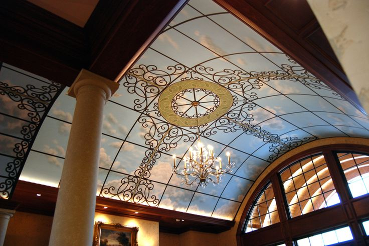 Pin by wow effects murals and fine art on sky ceiling for Ceiling mural sky