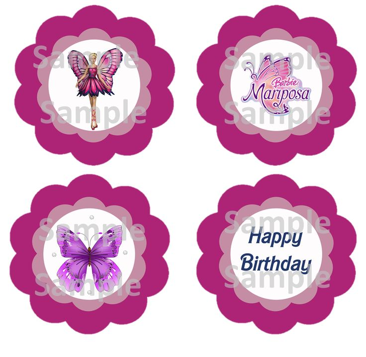 barbie cupcake toppers barbie party pinterest