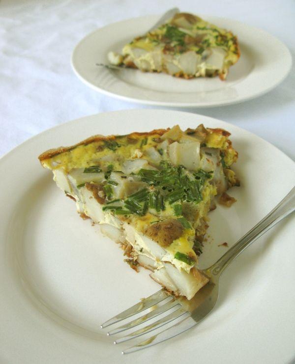 potato frittata | vegetarian/vegan inspo | Pinterest